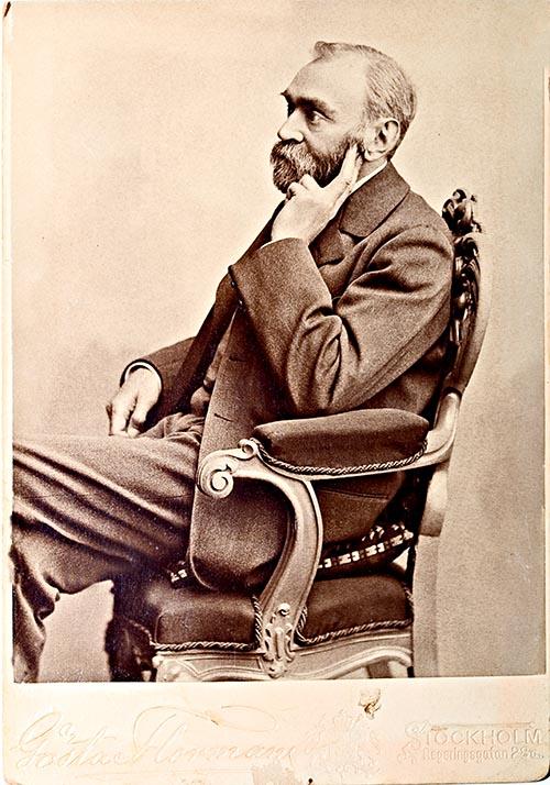 Porträtt av Alfred Nobel